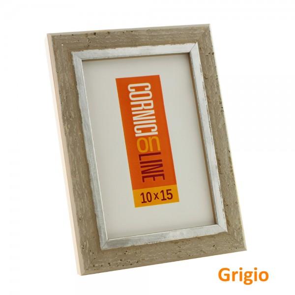 Cornici online cornice legno shabby chic con filo argento for Cornici on line