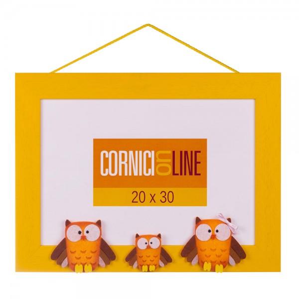 Cornici online cornice in legno con applicazione tre for Cornici online