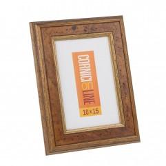 31 Cornice in legno con inserto in radica e filo oro
